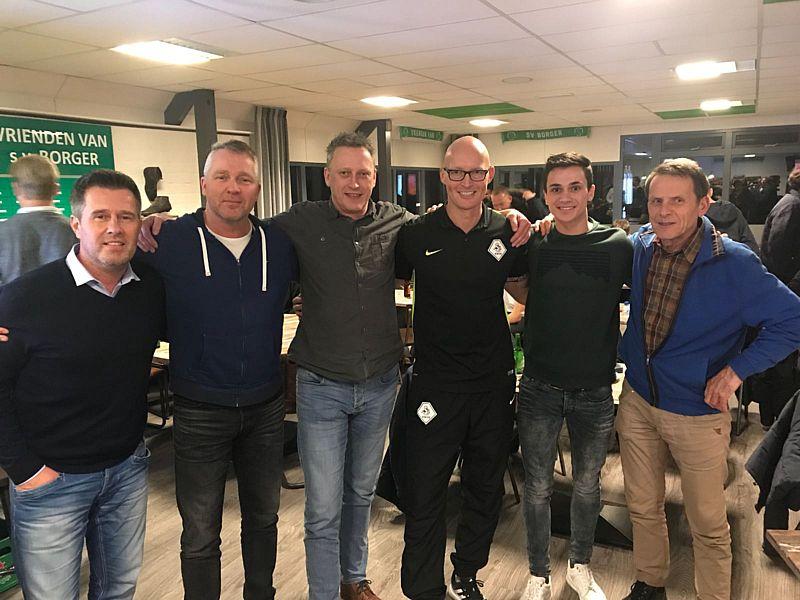 Geslaagde avond bij SV Borger met scheidsrechter Siemen Mulder