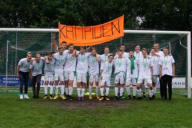 Borger JO15-1 kampioen!!