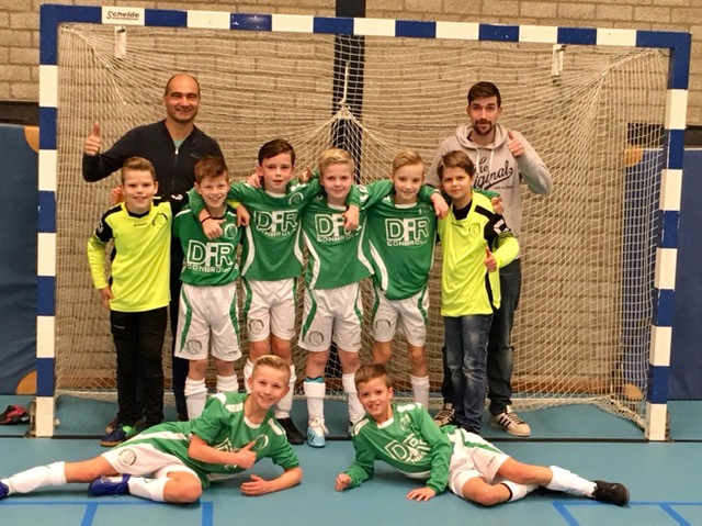 SV Borger JO11-1 kampioen in de zaalcompetitie