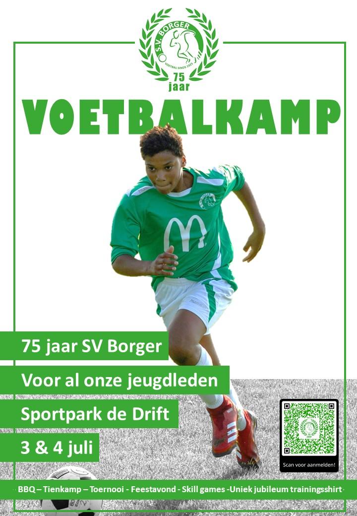 SV Borger organiseert voetbalkamp voor haar jeugdleden